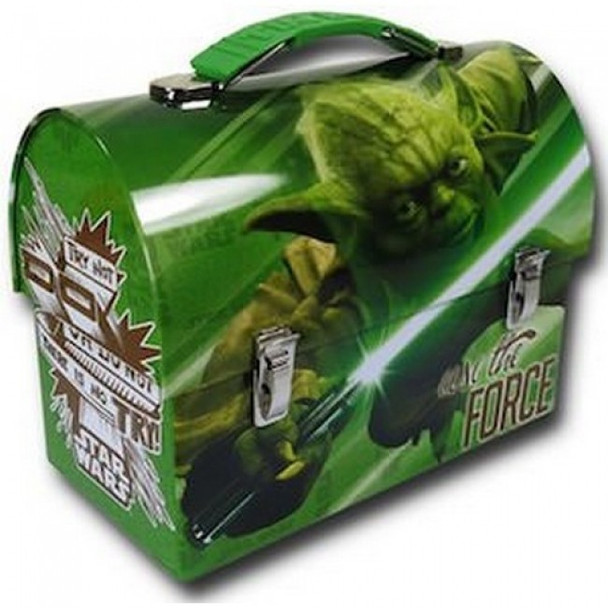 Star Wars Yoda Large Workman Carry All Tin Lunch Box