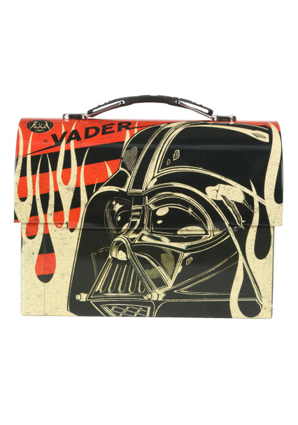 Star Wars Darth Vader Helmet Large Workman Carry All Tin Lunch Box