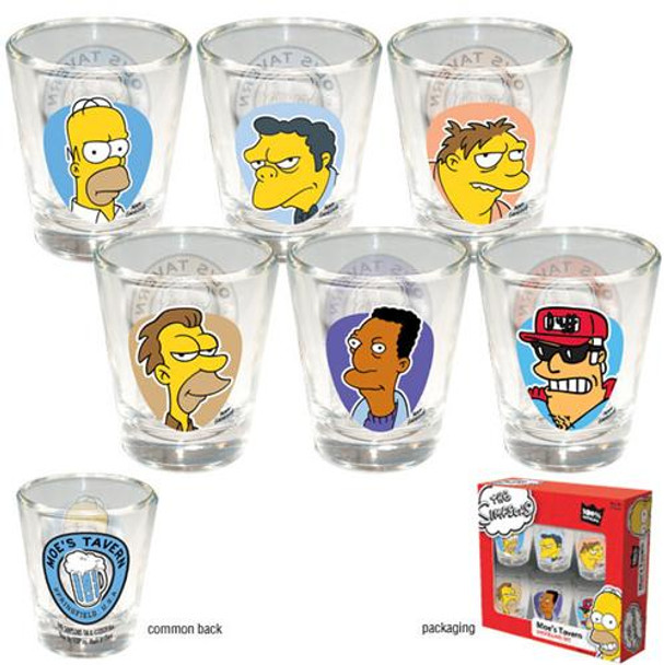 The Simpsons Moe's Tavern Shotglass 6-Pack