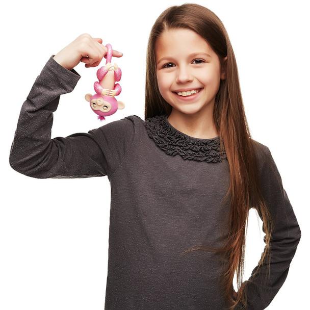 Fingerlings Glitter Monkey - Rose (Pink Glitter)