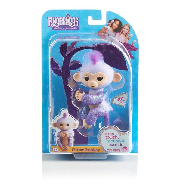 Fingerlings Glitter Monkey - Kiki (Purple Glitter)