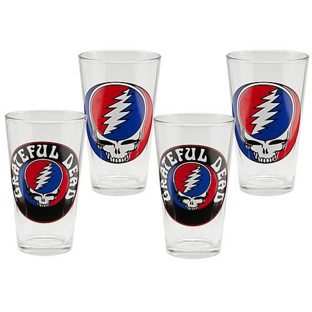 Grateful Dead 16-Ounce Glasses 4-Pack