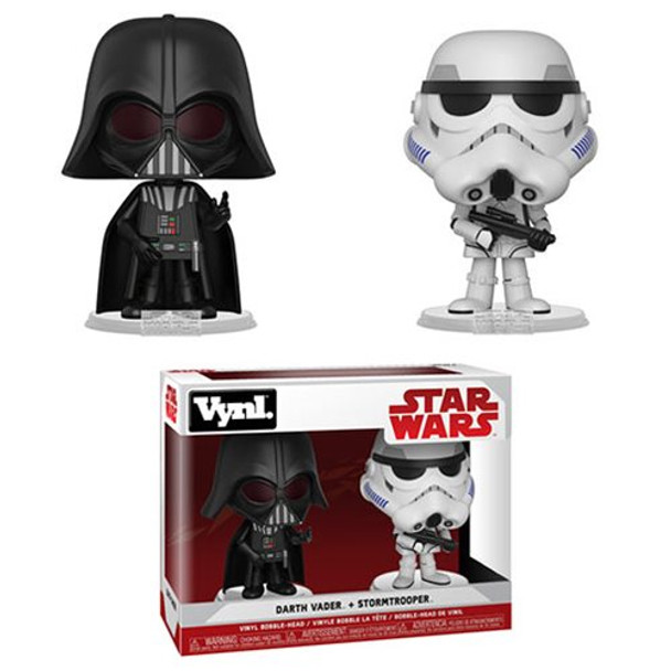 Star Wars: The Empire Strikes Back Darth Vader and Stormtrooper Vynl. Figure 2-Pack