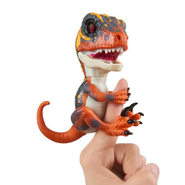 Fingerlings Untamed Dinosaur Blaze the Velociraptor Figure (Orange)