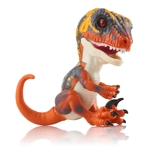 Fingerlings Untamed Dinosaur Blaze the Velociraptor Figure (Orange)