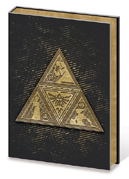The Legend Of Zelda Metal Triforce Premium A5 Journal