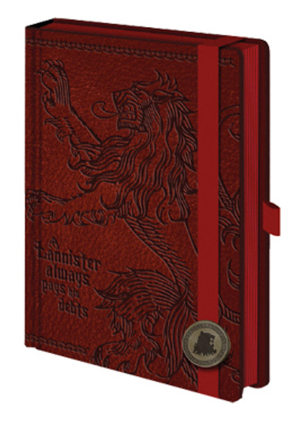 Game of Thrones Lannister Premium A5 Journal