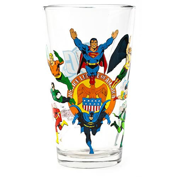 Justice League Glass Toon Tumbler