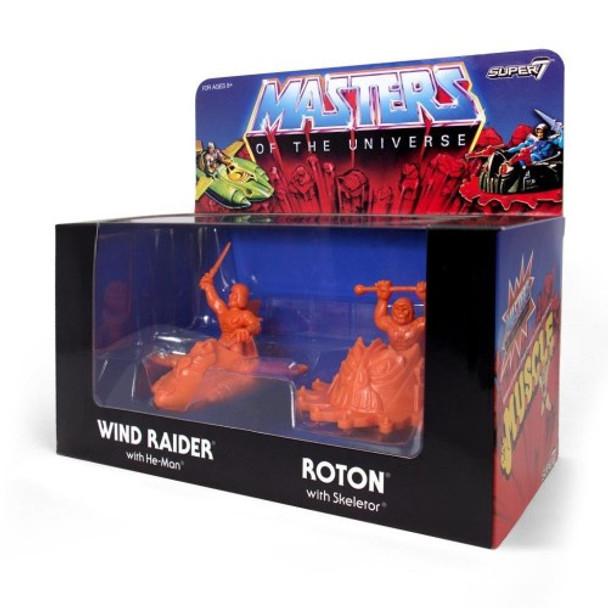 Masters of the Universe M.U.S.C.L.E. Wind Raider and Roton - Orange