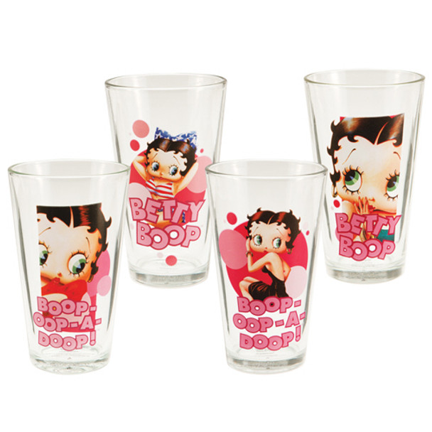 Betty Boop 16-Ounce Glasses 4-Pack