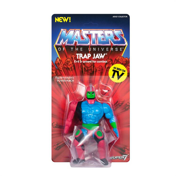Masters of the Universe Vintage Trap Jaw 5 1/2-Inch Action Figure