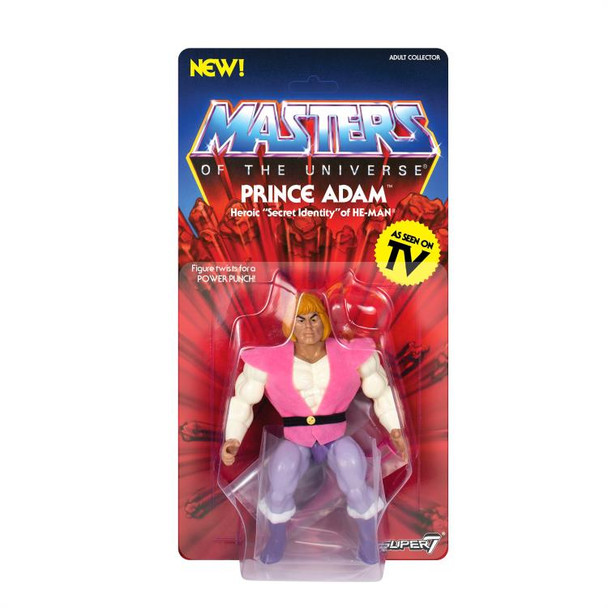 Masters of the Universe Vintage Prince Adam 5 1/2-Inch Action Figure