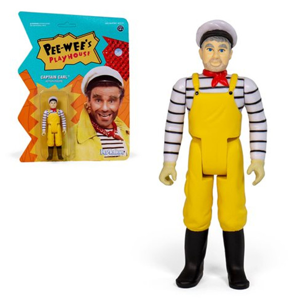 Pee-wee's Playhouse Captain Carl 3 3/4-Inch ReAction Figure