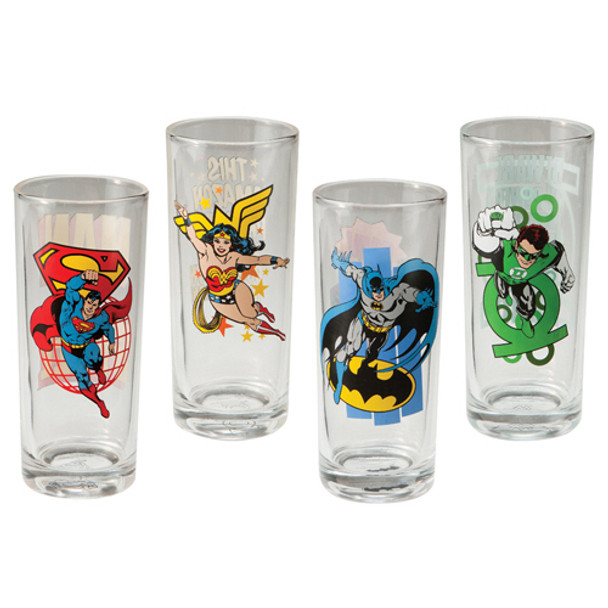 DC Comics 10-ounce Glasses 4-Pack