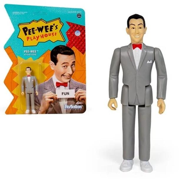 Pee-wee's Playhouse Pee-wee Herman 3 3/4-Inch ReAction Figure