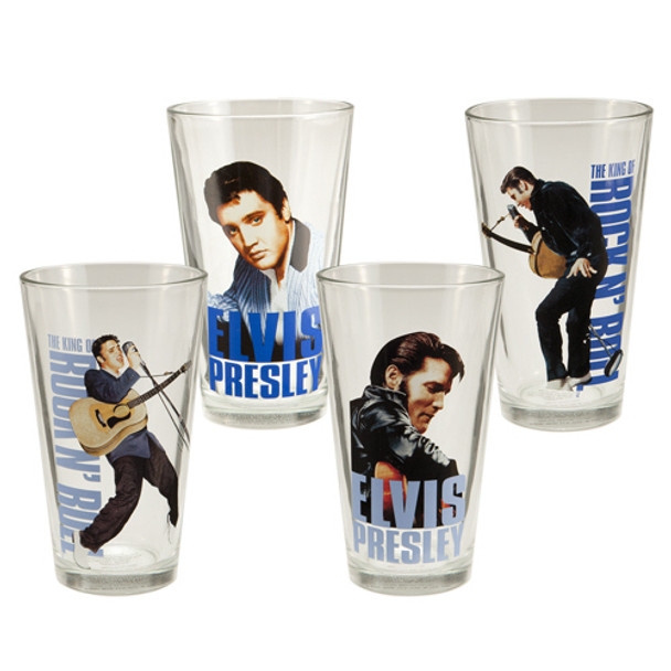 Elvis Presley 16-Ounce Glasses 4-Pack