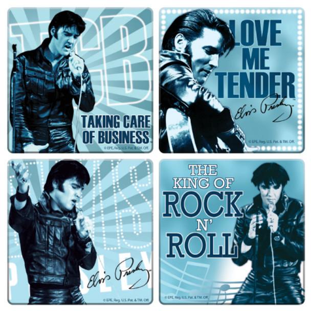Elvis Presley Coaster 4-Pack