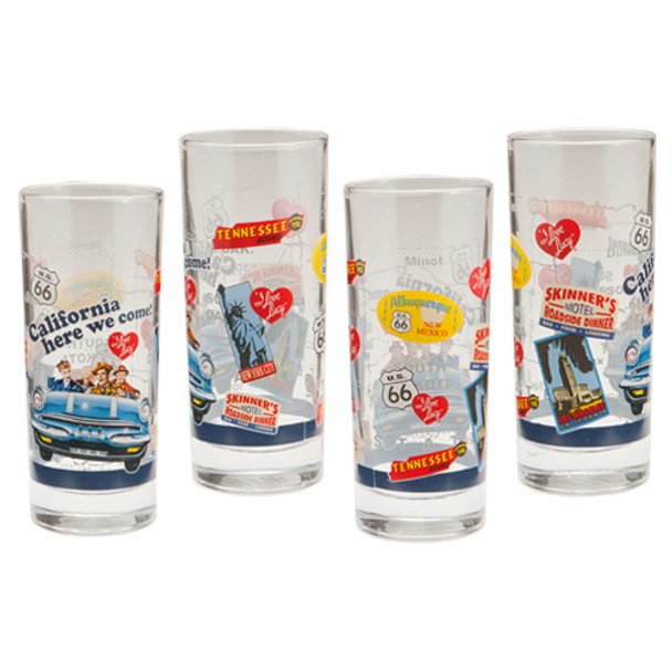 I Love Lucy 10-ounce Glasses 4-Pack