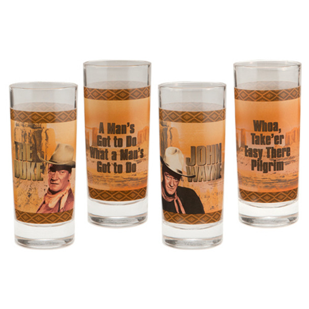 John Wayne Duke 10-Ounce Glasses 4-Pack