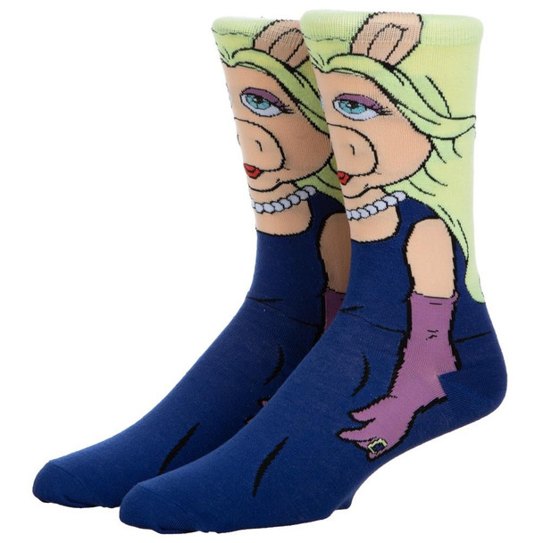 The Muppets Miss Piggy 360 Character Crew Socks