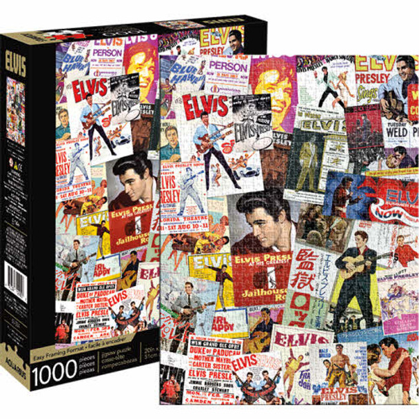 Elvis Presley Movie Poster Collage 1,000-Piece Puzzle
