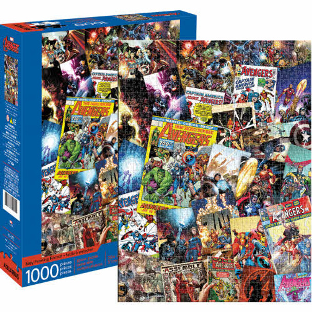 Avengers Comic Collage 1000-Piece Puzzle