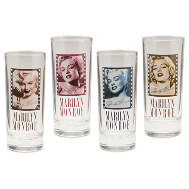 Marilyn Monroe 10-Ounce Glasses 4-Pack