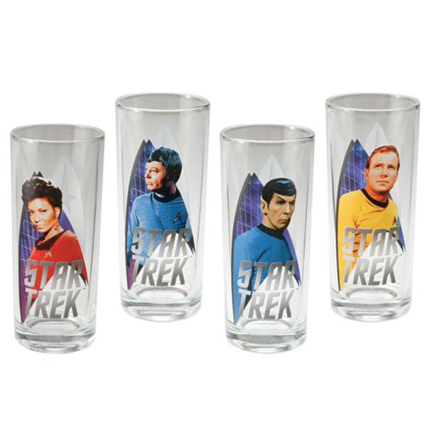 Star Trek Original Series 10-Ounces Glasses 4-Pack