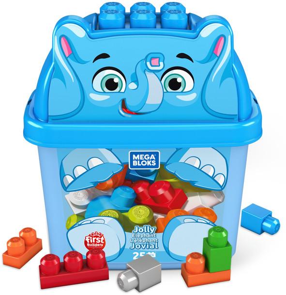 Mega Bloks First Builders Jolly Elephant with Big Building Blocks