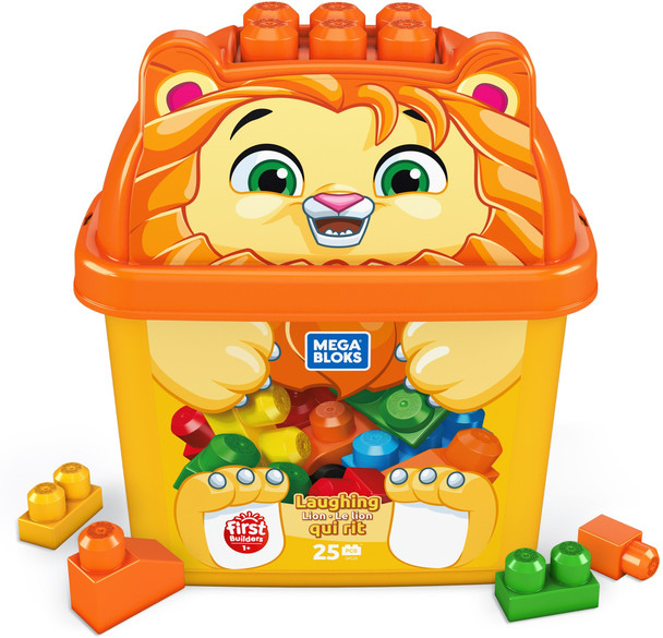 Mega Bloks First Builders Laughing Lion with Big Building Blocks