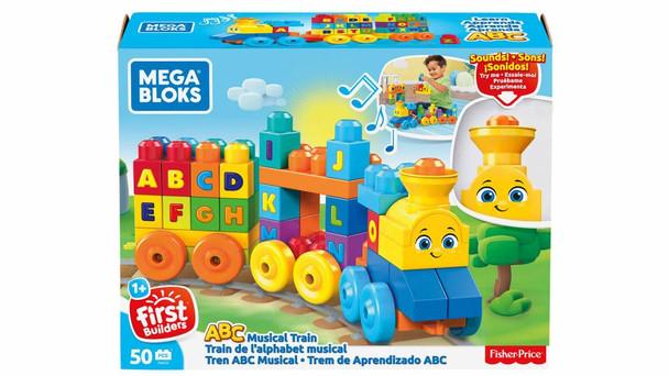 Mega Bloks First Builders ABC Musical Train with Big Building Blocks