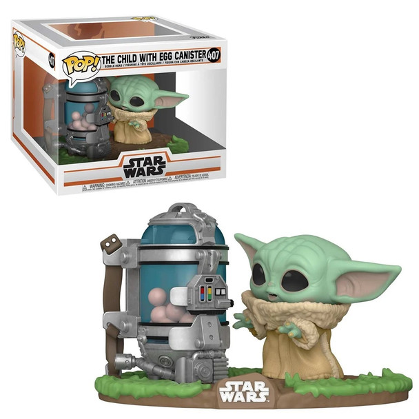 Funko Star Wars: The Mandalorian The Child with Egg Canister Deluxe Pop Vinyl Figure