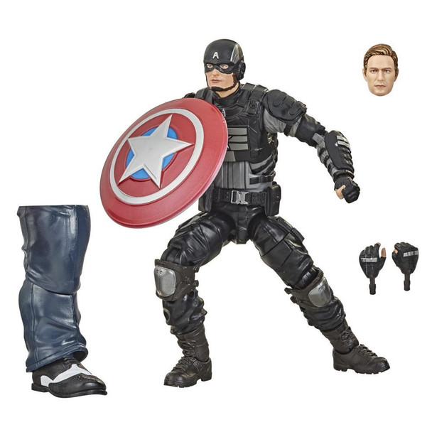 Hasbro Marvel Legends Series Gamerverse 6-inch Collectible Stealth Captain America Action Figure