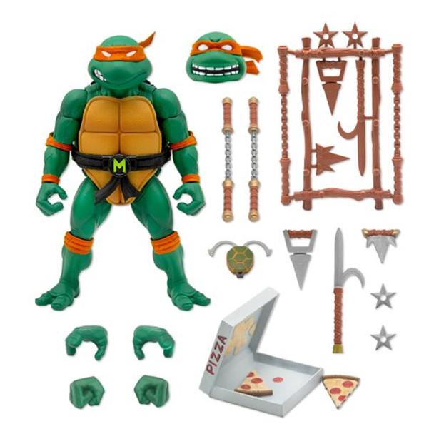 [PRE-ORDER] Super7 Teenage Mutant Ninja Turtles Ultimates Michelangelo 7-Inch Action Figure