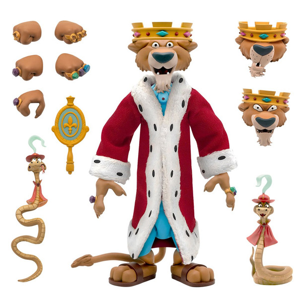 [PRE-ORDER] Super7 Disney Ultimates Robin Hood Prince John with Sir Hiss Action Figure