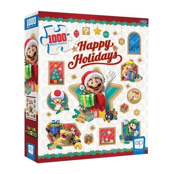 """Super Mario """"Happy Holidays"""" 1000 Piece Puzzle"""