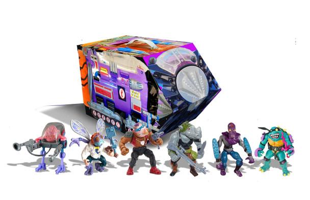 Teenage Mutant Ninja Turtles Retro Villains Mutant Module Rotocast Action Figure 6-Pack - Previews Exclusive