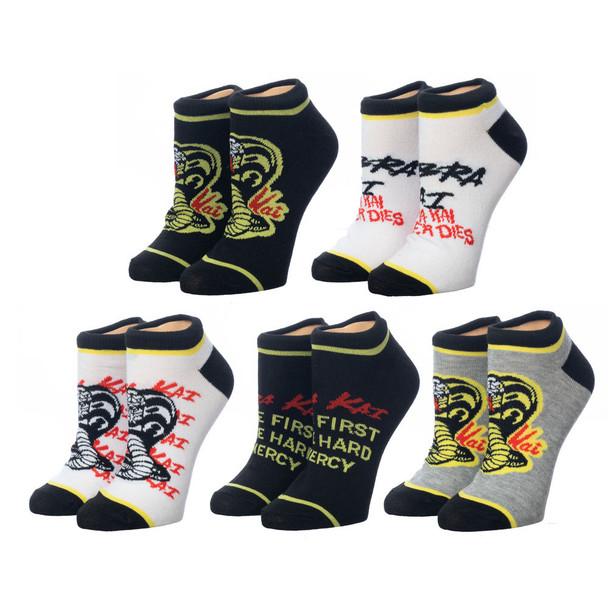 Cobra Kai 5 Pair Ankle Socks