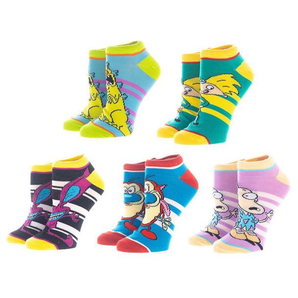 Nickelodeon 5 Pair Ankle Socks
