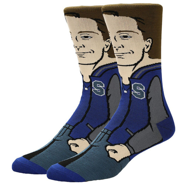 The Breakfast Club Andrew 360 Character Mens Crew Socks