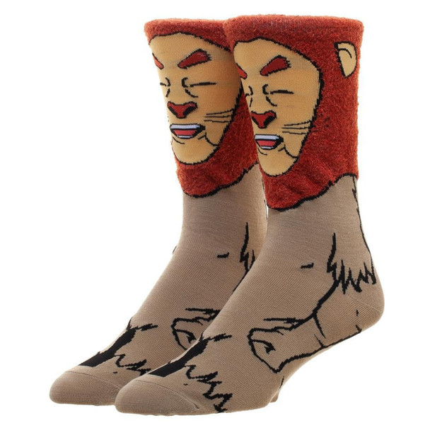 Wizard Of Oz Cowardly Lion 360 Character Socks