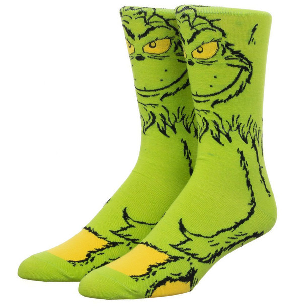 Dr. Seuss The Grinch 360 Character Crew Socks