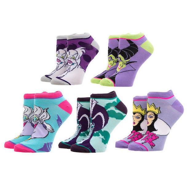 Disney Villains 5 Pair Ankle Socks