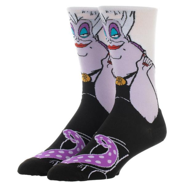 Disney Villains Ursula 360 Character Crew Socks