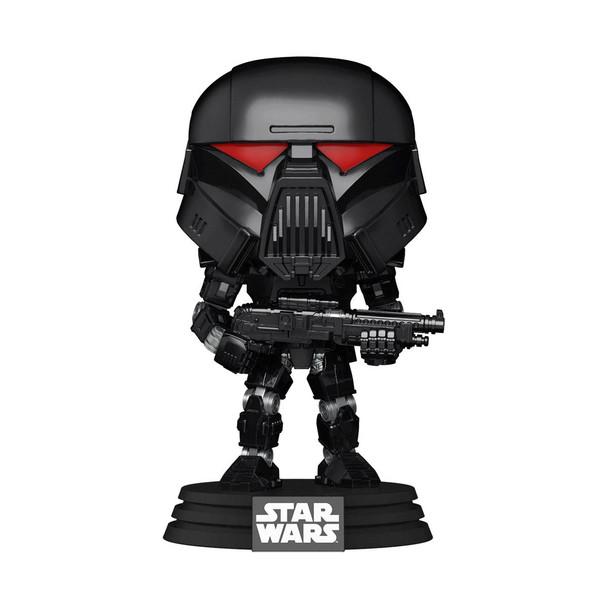 Funko Star Wars: The Mandalorian Dark Trooper (Battle) Pop! Vinyl Figure