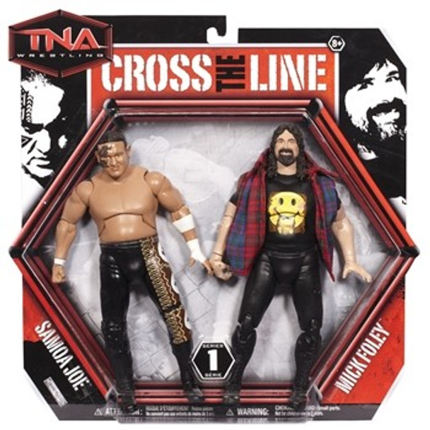 TNA Wrestling Cross the Line Series 1 Action Figure 2-Pack Samoa Joe & Mick Foley