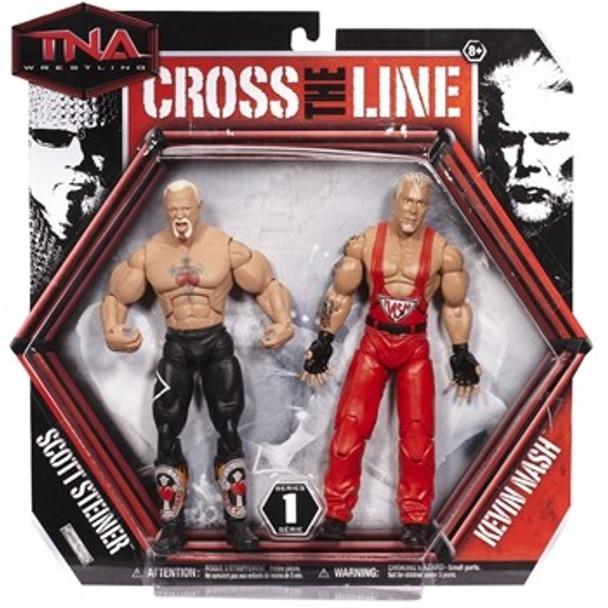 TNA Wrestling Cross the Line Series 1 Action Figure 2-Pack Scott Steiner & Kevin Nash