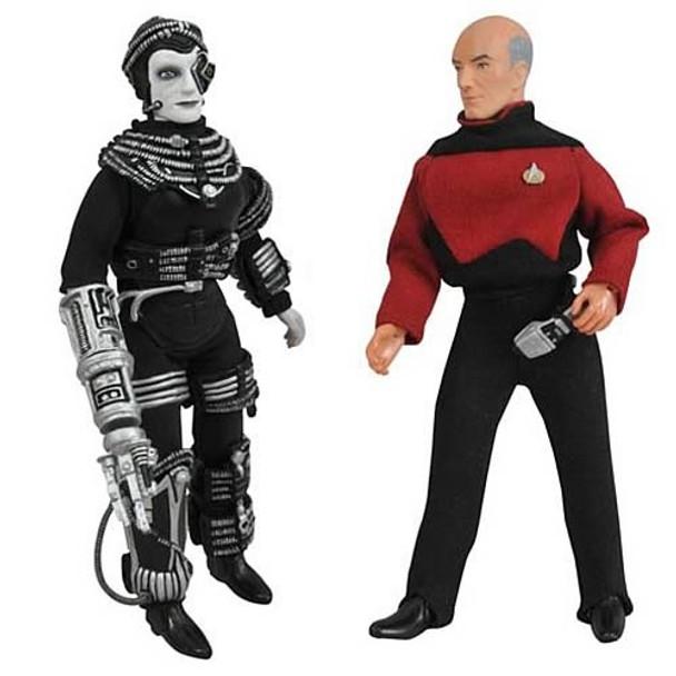 Star Trek Retro Series 9 Picard and Borg Figure Set