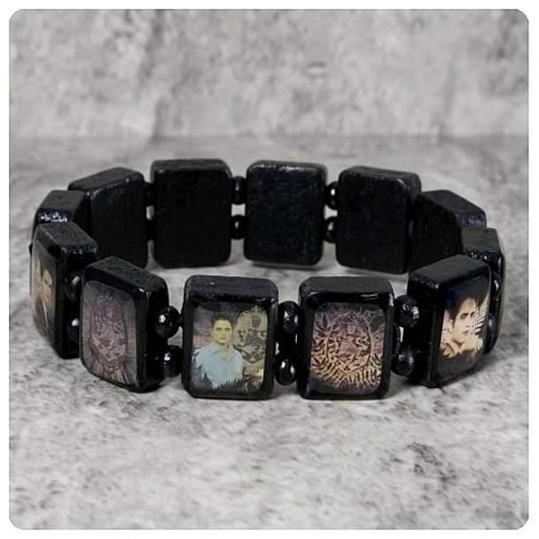 Twilight Breaking Dawn Edward Wooden Bracelet