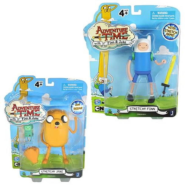 Adventure Time 5-Inch Jake and Finn Action Figures